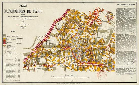 Katakomby Paríž 1857
